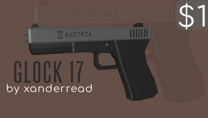 Stylized Low Poly Glock 17!