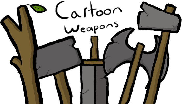 Stone Cartoon Weapons
