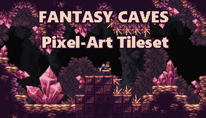Fantasy Caves – Pixel Art Tileset
