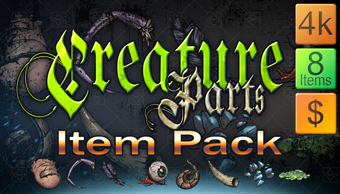 Creature Parts Item Pack