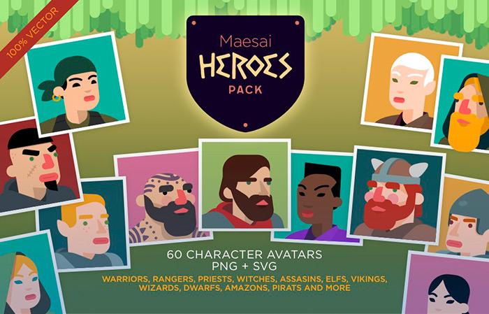Maesai Heroes Pack