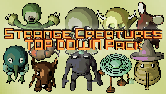 Strange Creature Sprites Pack – TOP DOWN