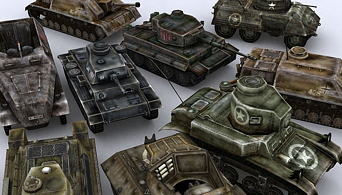 3DRT – WWII Tanks Pack