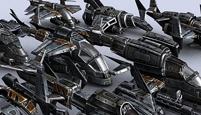 3DRT – Sci-Fi Gunships