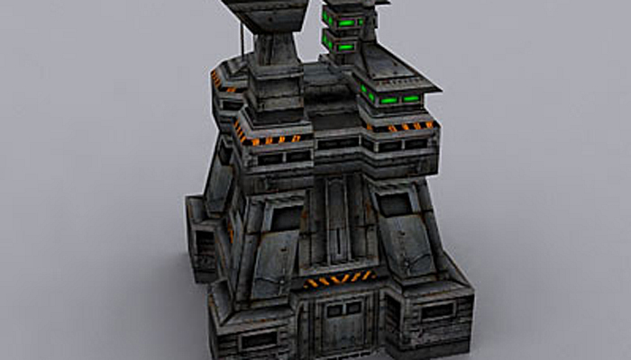 3DRT – Sci-Fi Buildings Collection