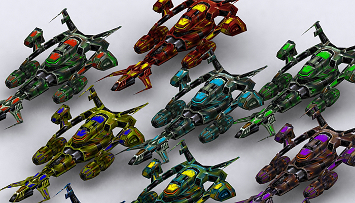3DRT – Sci-Fi Fighters Fleet