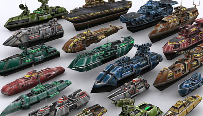 3DRT – Sci-Fi Naval Vessels