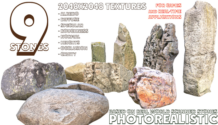9 Photorealistic Stones