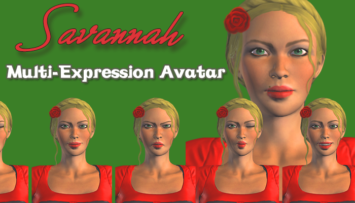 Savannah – Multi-Expression Avatar