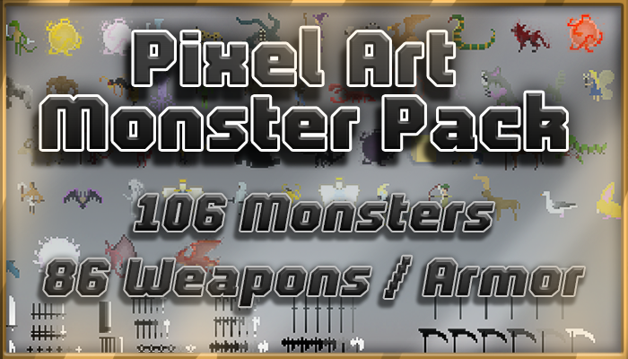 Pixel Art Monster Pack