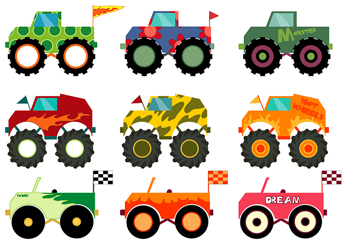 Set of Monster Trucks