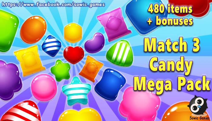 Match 3 Candy Mega Pack