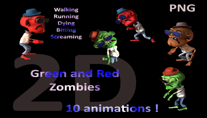 Green and Red Zombies