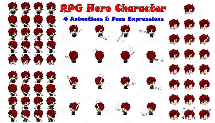 RPG Hero Character 6