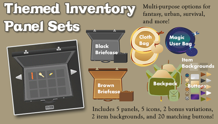 Themed Inventory Panel Sets