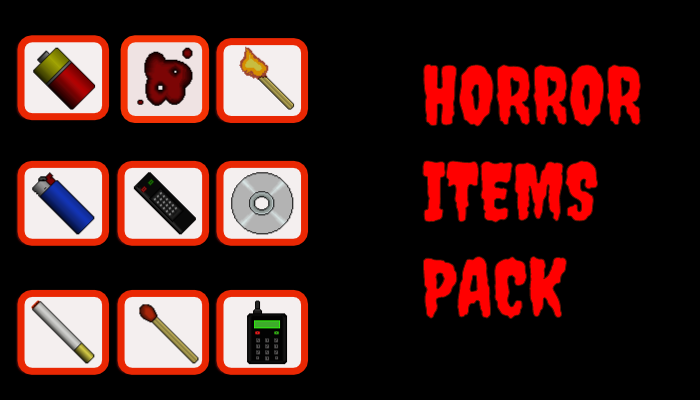 Horror items pack