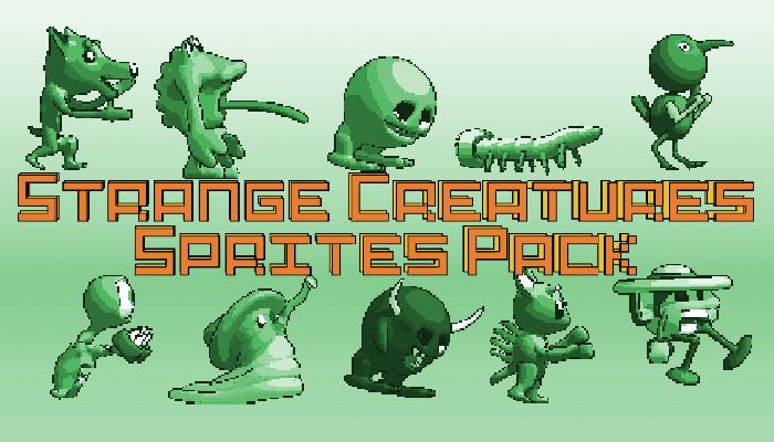 Strange Creature Sprites Pack – side scroller