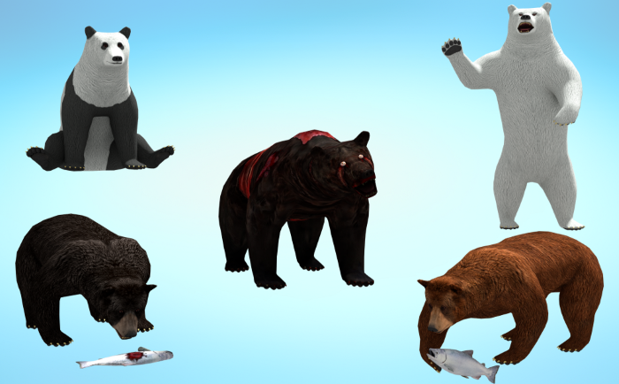 5 in 1 Realistic Bear Pack