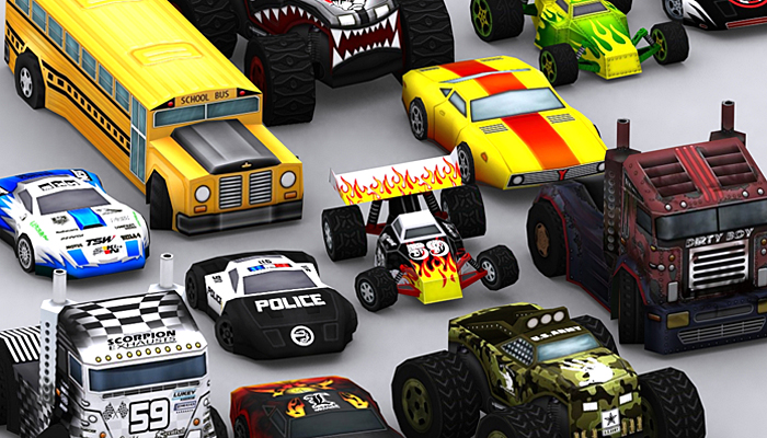 3DRT – Road Rush Xtreme Cars Megapack