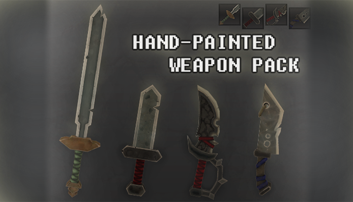 Hand-Painted Weapon Pack
