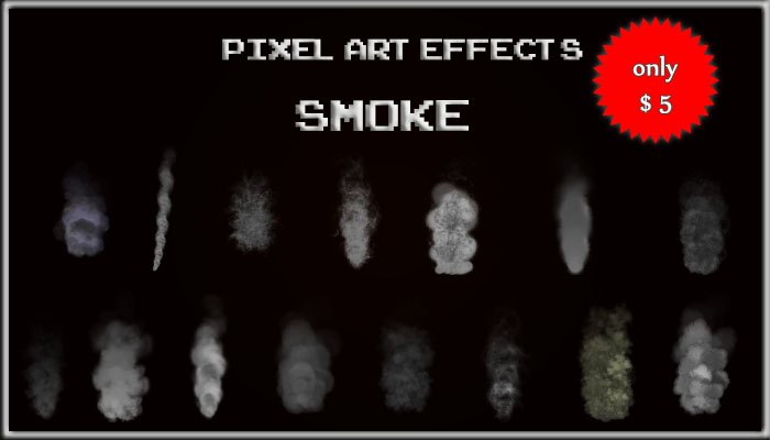 Pixel Art Effects Smoke
