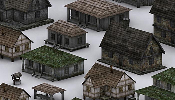 3DRT – Medieval Houses Pack