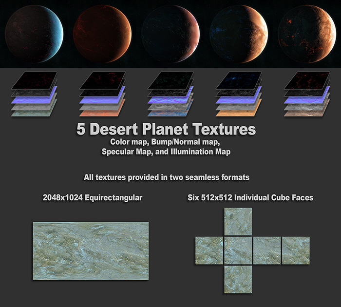 Desert Planet Textures