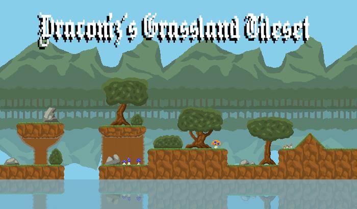 Pixel Art Grasslands Environment