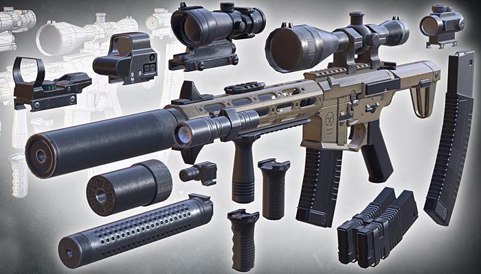 3DRT – Modern firearms HD – Honey Badger