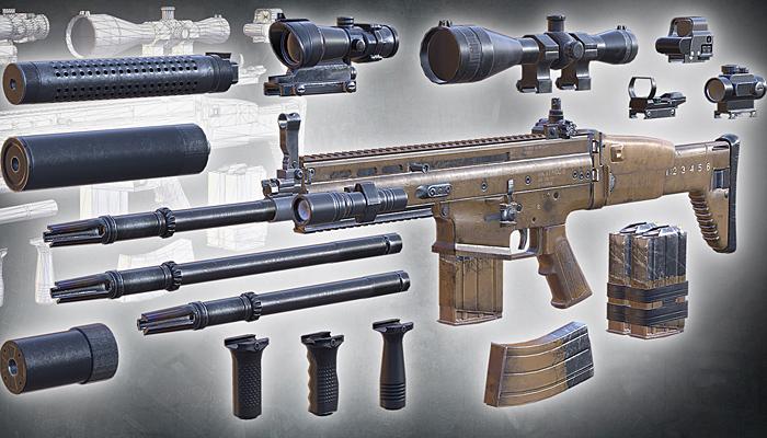 3DRT – Modern firearms HD – FN SCAR