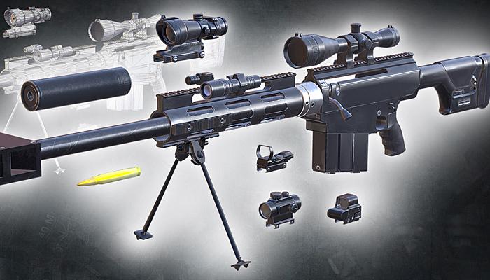3DRT – Modern firearms HD – Bushmaster BA-50