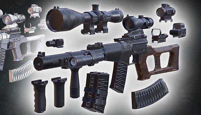 3DRT – Modern firearms HD – VSS Vintorez