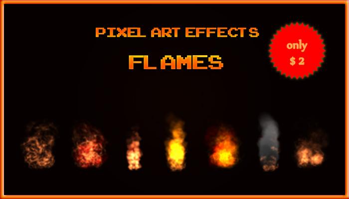 Pixel Art Effects Flames