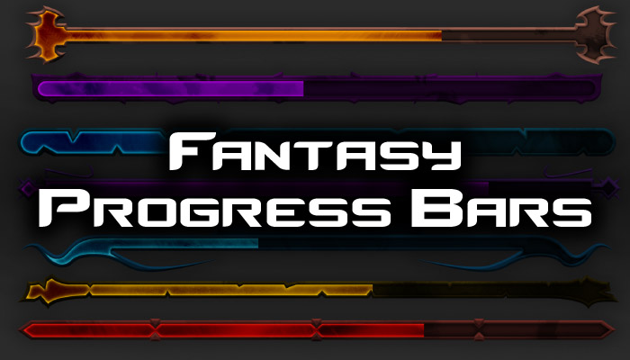 Progress Bars – Fantasy UI Pack 2