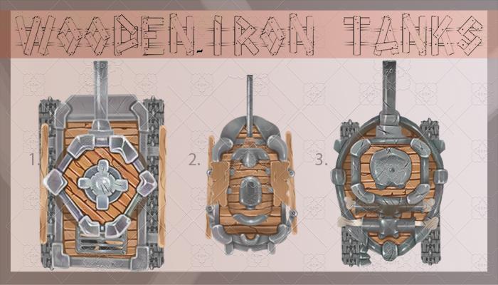 Iron-wooden tanks