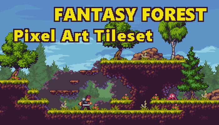Fantasy Forest – Pixel Art Tileset