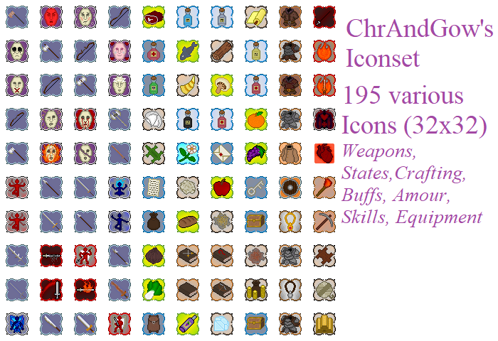 Pixelart RPG Icons