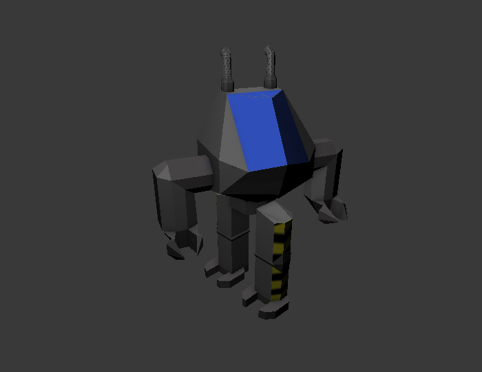 Low Poly Forklift Mech
