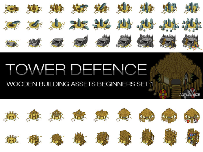 Tower Defence – Wooden Buildings