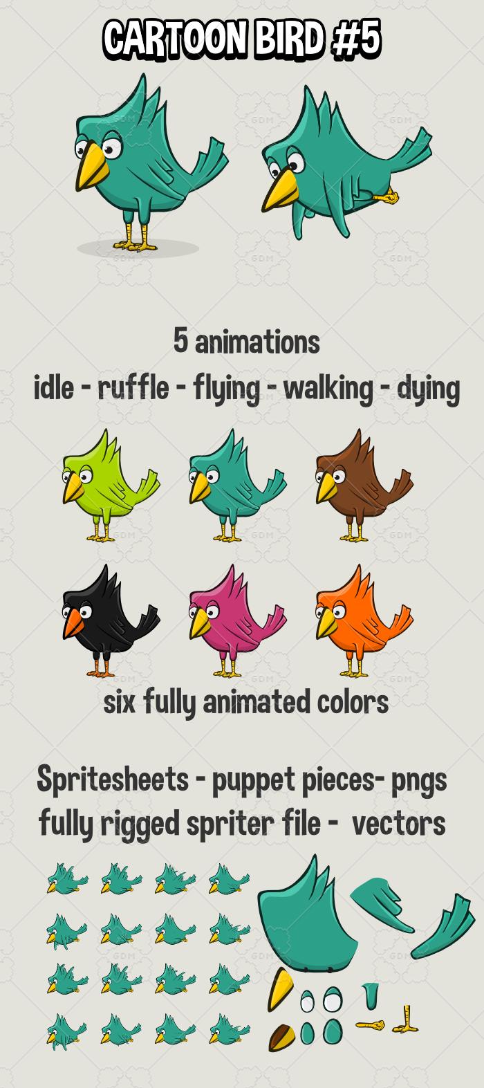 Cartoon bird 5