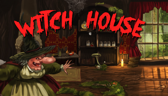 Amazing Witch Hut Background plus Witch Character