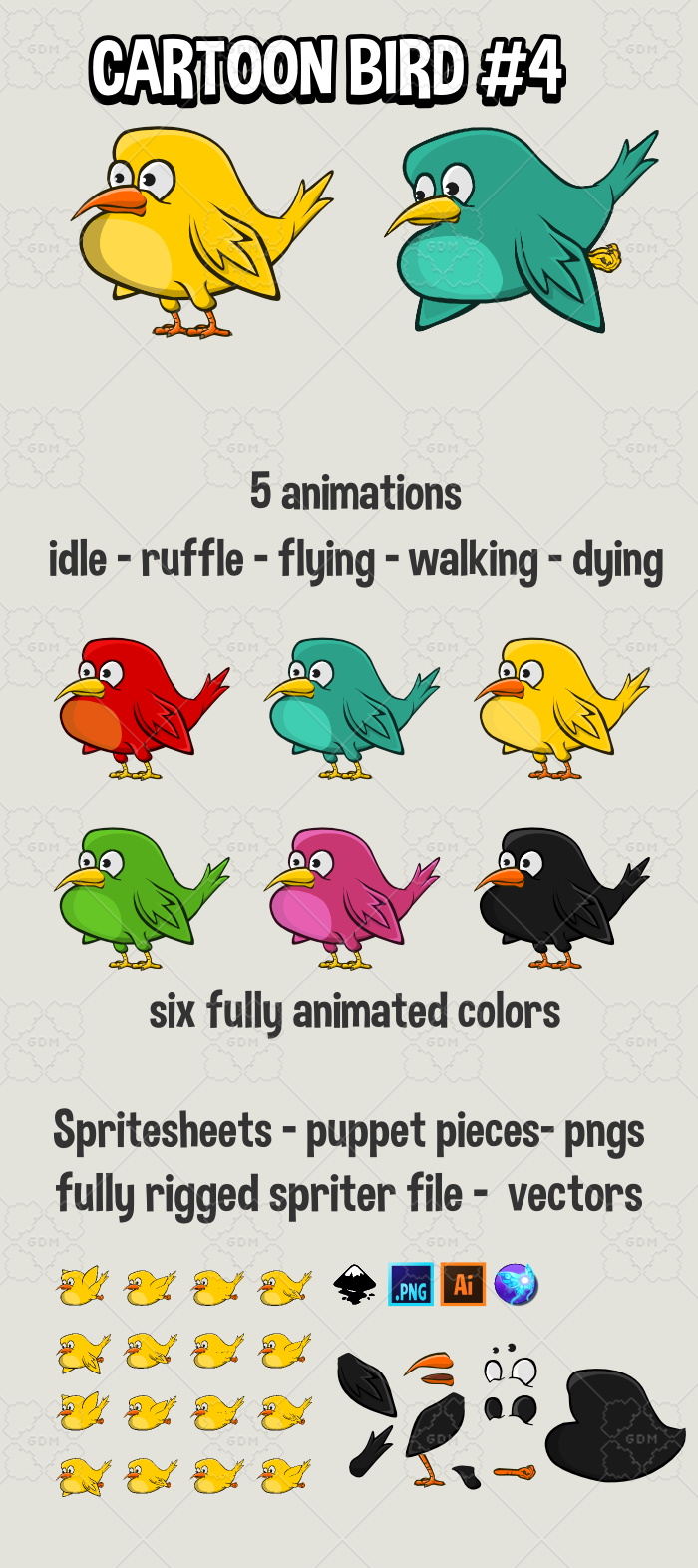 cartoon bird 4