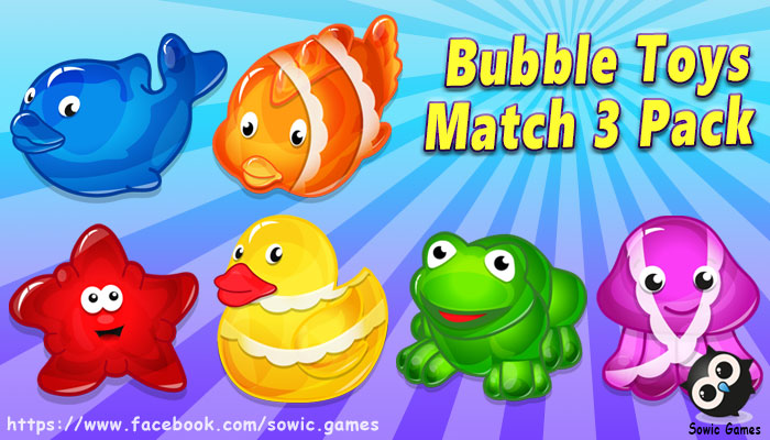 Bubble Toys Match 3 Pack