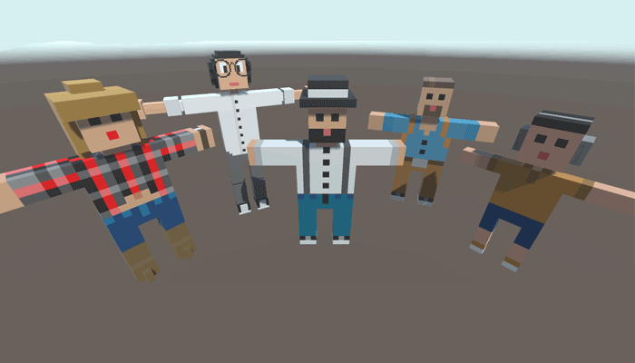 5 Voxel People Pack