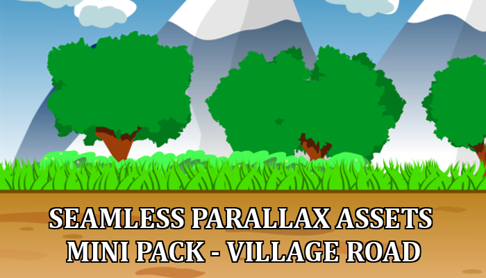 Seamless Parallax Assets Mini Pack – Village Road