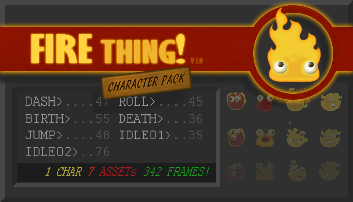 Fire Thing Character Pack!