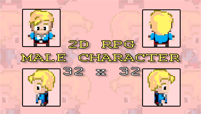2D RPG Male Character