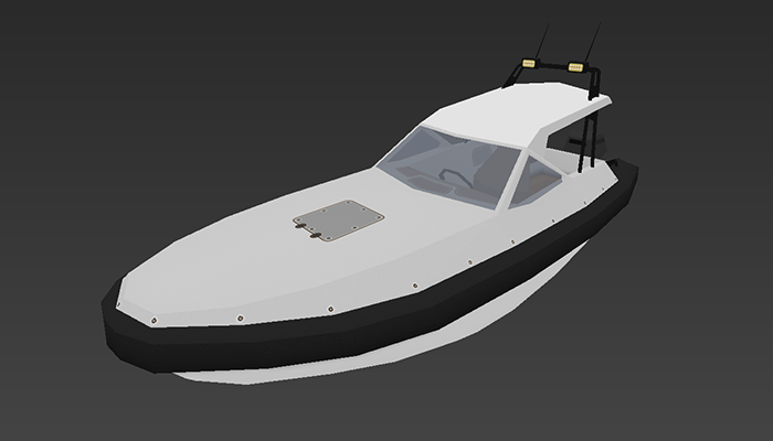 Motorboat S1 – low-poly 3D model