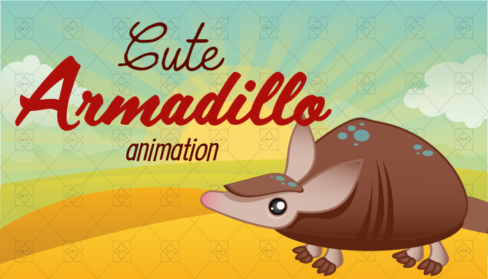 Cute Armadillo Animation