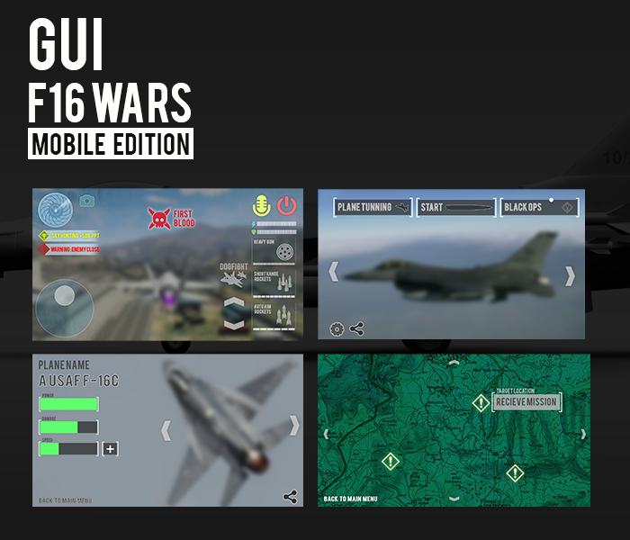 F16 Game GUI